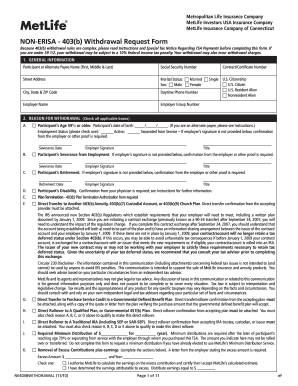 metlife non erisa 403 b withdrawal request form