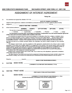 assignment of interest form