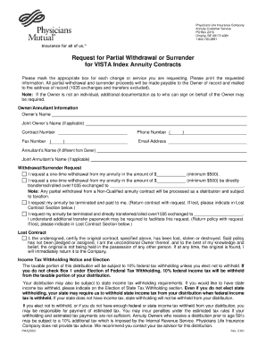 Physicians Life Insurance Company Surrender Form - Fill Online ...