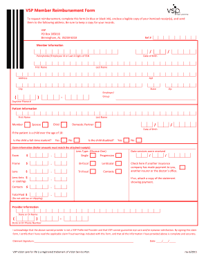 Standard Out Of Network Reimbursement Form Fill Online