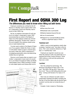 Osha 300a Form - Fill Online, Printable, Fillable, Blank | PDFfiller