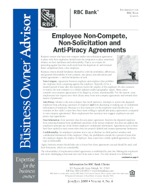 employee anti piracy agreements form