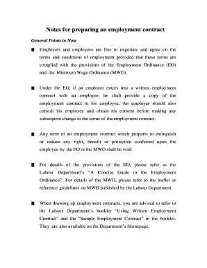 employment contract sample pdf Forms and Templates - Fillable ...