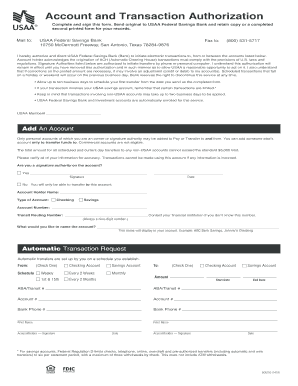 Form: NEW USAA FORM FOR DIRECT DEPOSIT