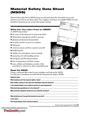 Example Form Of Safety Data Sheet Pdf - Fill Online, Printable ...