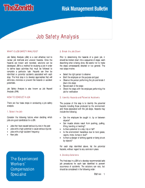 Job safety analysis template excel forms fillable printable job hazard analysis fillable form pronofoot35fo Images