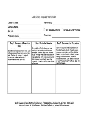 job hazard analysis form fill online printable fillable blank pdffiller. Black Bedroom Furniture Sets. Home Design Ideas