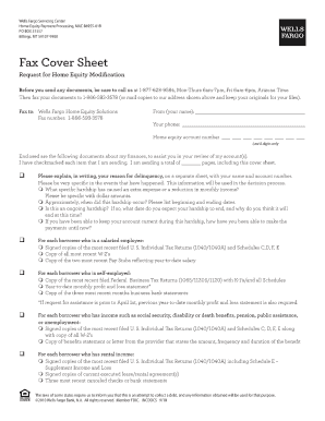 wells fargo fax cover sheet form