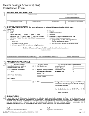 Guide to HSA Tax Deductions & Filing IRS Form 8889 ... |Hsa Distribution Form