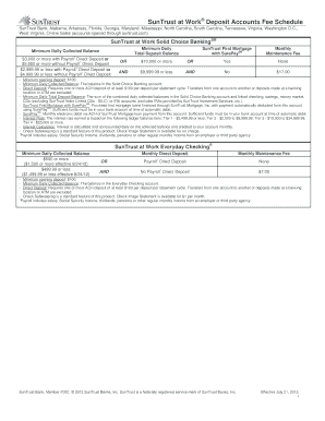 suntrust direct deposit form Suntrust Direct Deposit Form - Fill Online, Printable, Fillable ...