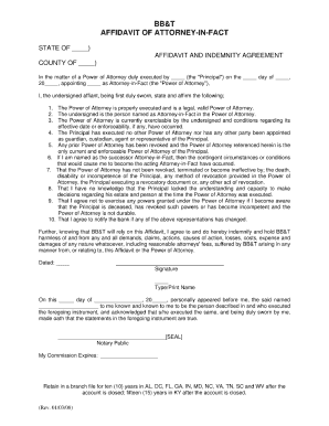 power of attorney form 1040  Bb&t Power Of Attorney - Fill Online, Printable, Fillable ...