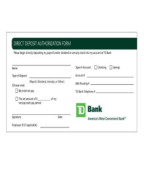 Bank Direct Deposit Form Fill Online Printable