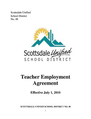 Fillable online susd schoolfusion teacher employment agreement fill online platinumwayz