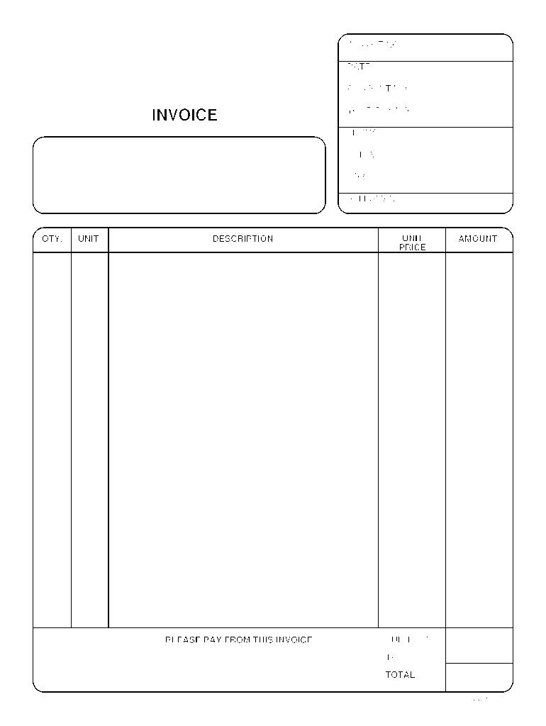 Invoice Fill Online Printable Fillable Blank Pdffiller