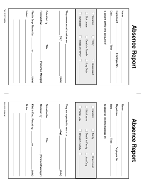 sss form of absent fill online printable fillable blank pdffiller