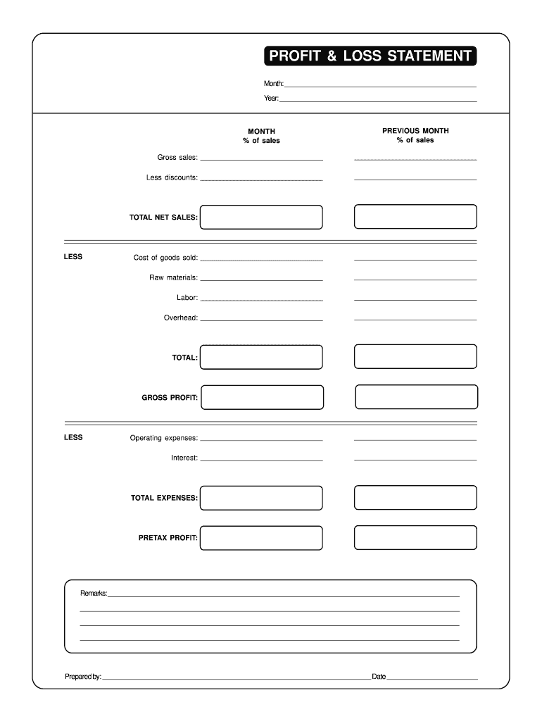 picture relating to Printable Profit and Loss Statement known as Blank Financial gain And Decline Assertion Pdf - Fill On line, Printable