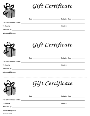 fillable gift certificate template