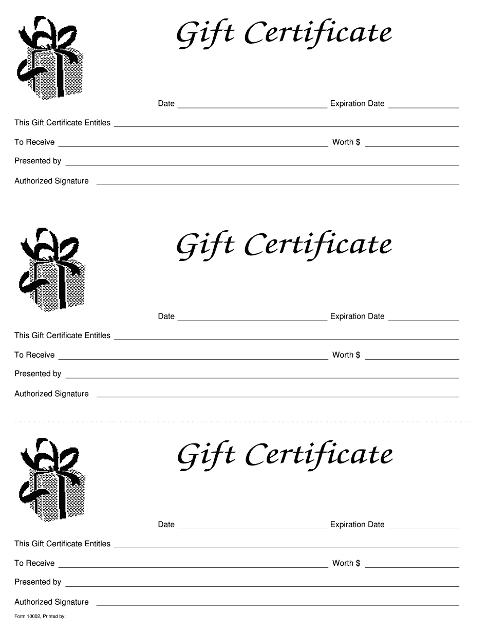 It is an image of Sassy Gift Certificate Sample