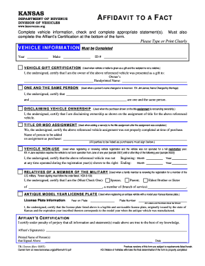 how to fill out an affidavit form