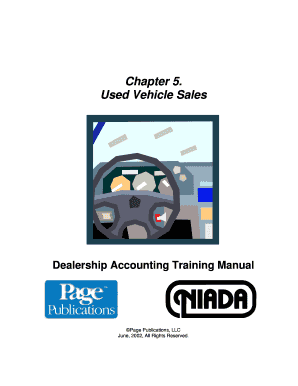 dealership accounting training manual fill online printable rh pdffiller com Northwest Auto Sales Payless Auto Sales Used Cars