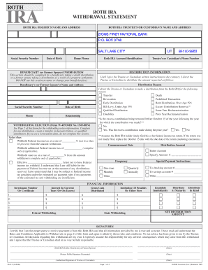 Zion Bank Ira Withdrawal Form - Fill Online, Printable, Fillable ...