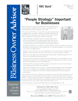 people strategy issn form