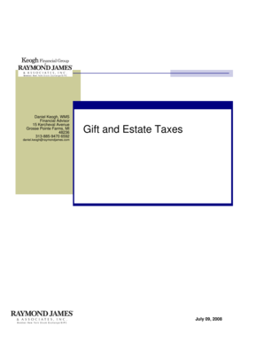 Gift and Estate Taxes - Raymond James
