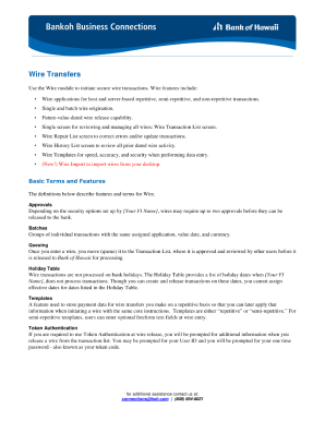 Wire Transfer Online | Bank Of Hawaii Wire Transfer Fill Online Printable Fillable