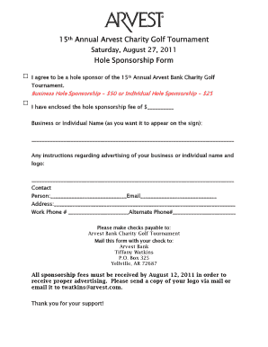 Golf tournament hole sponsor form fillable fill online printable golf tournament hole sponsor form fillable thecheapjerseys Image collections