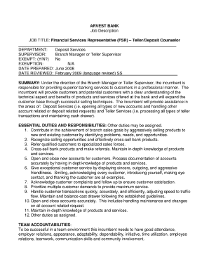 9 printable job description format pdf templates fillable samples