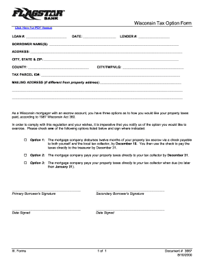 Wisconsin Tax Option Form - Fill Online, Printable, Fillable ...