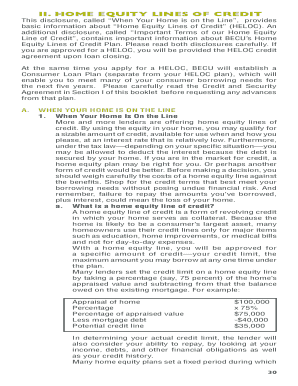 Becu Heloc Terms Form