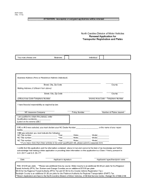 Bill of sale fillable nc form