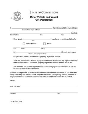 Ct Dmv Bill Of Sale >> Connecticut Motor Vehicle Bill Of Sale Form Templates Fillable