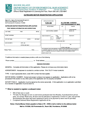Bill of sale form rhode island bill of sale templates for Outboard motor bill of sale