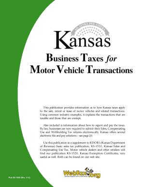 kansas department of revenue bill of sale