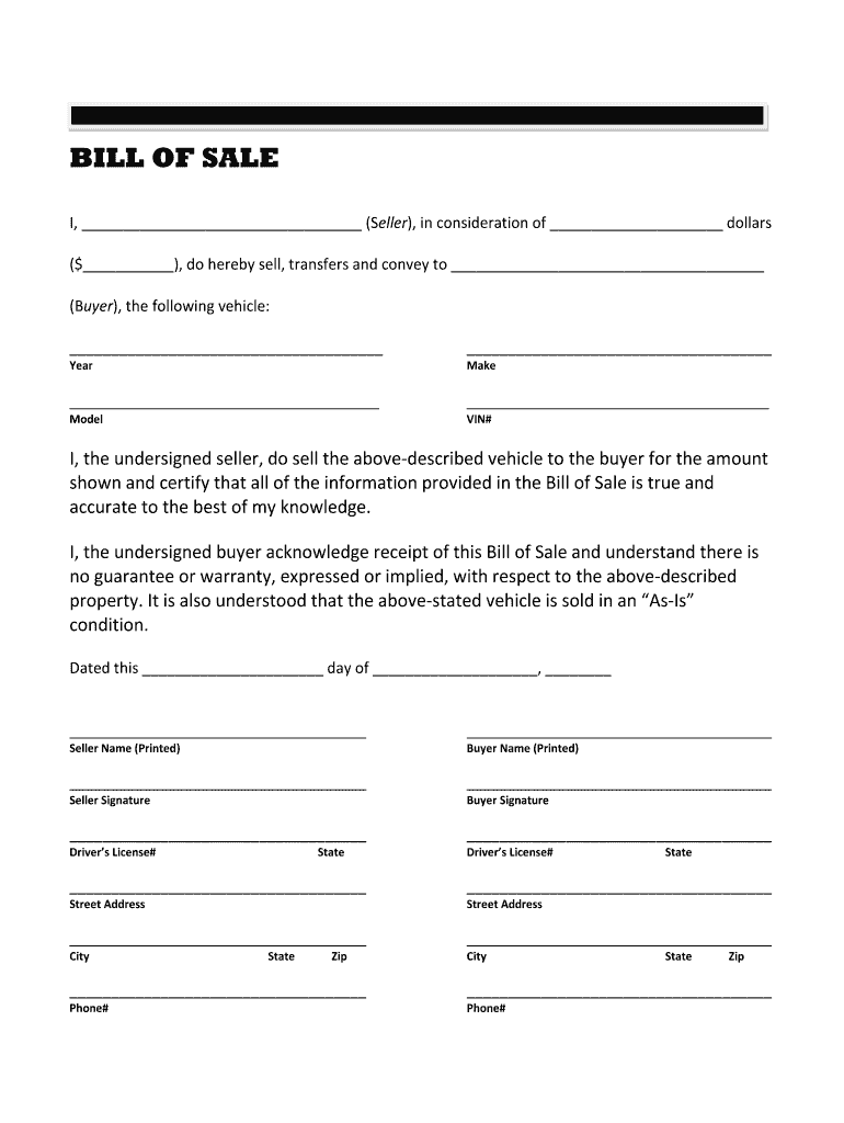 Trailer Bill Of Sale Fill Online Printable Fillable