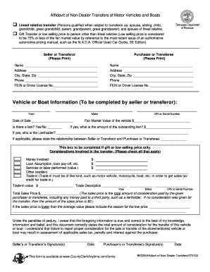 Affidavit form nl for vehicle transfer fill online for Non ownership of motor vehicle affidavit