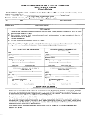 Bill Of Sale Form Louisiana Vehicle Power Of Attorney Form ...