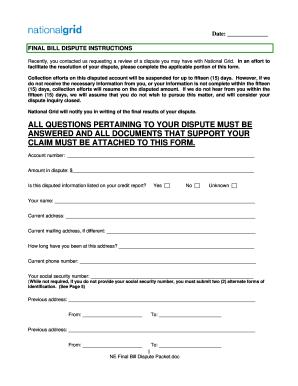 final billing letter sample
