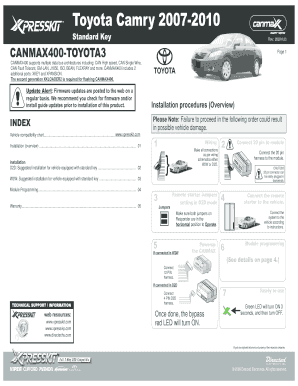 photos of receipt of a camry car form