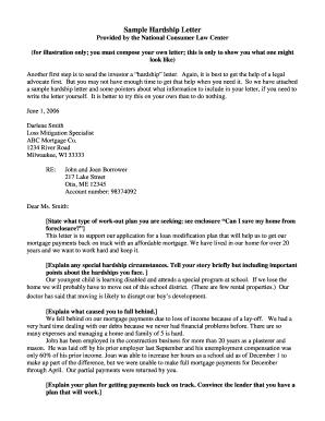 Letter Of Hardship Immigration from www.pdffiller.com
