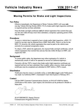 California Temporary Permit - Fill Online, Printable