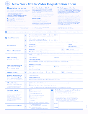 Fill out the form below and send it to your county's address on the back of this form, or take this form to the office of your County Board of Elections - monroecounty