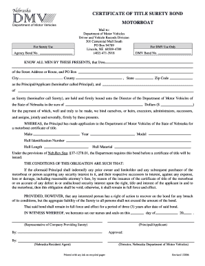 Blank alabama car title form fill online printable for What is a motor vehicle bond