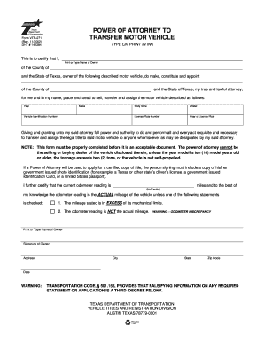 power of attorney form pa vehicle  Bill Of Sale Form Pennsylvania Motor Vehicle Power Of ...