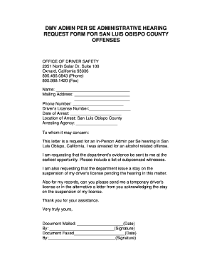 Request For Administrative Hearing - Fill Online, Printable