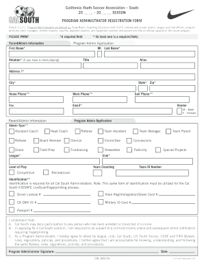 Fillable Online Administrator Assignment Form - Cal South Fax ...