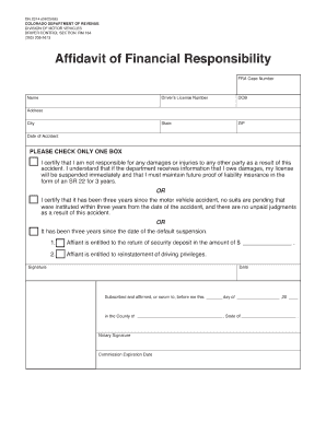 Nh dmv financial responsibility fill online printable for Non ownership of motor vehicle affidavit