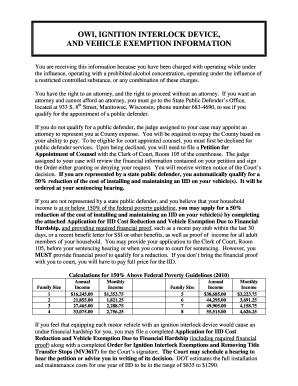 Milwaukee Wisconsin Ignition Interlock Exemption Form - Fill ...